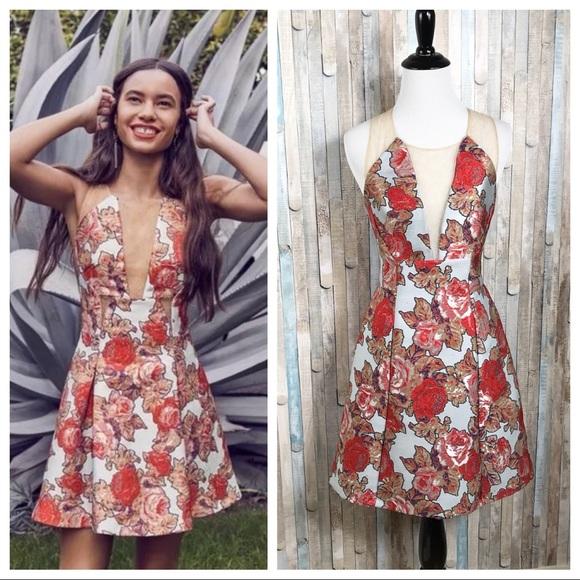 faa038296977 Topshop Dresses | Nwt 2 Floral Jacquard Illusion Prom Dress | Poshmark